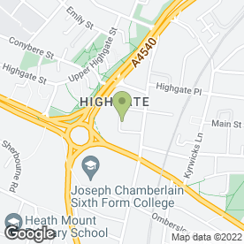 Map of Chand Textiles in Birmingham, west midlands