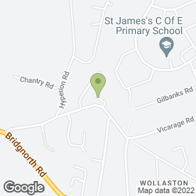 Map of J & K Removals in Wollaston, Stourbridge, west midlands