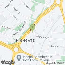 Map of 24-7 Auto Locksmiths in Highgate, Birmingham, west midlands