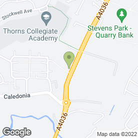 Map of Thorns Pre-School in Brierley Hill, west midlands