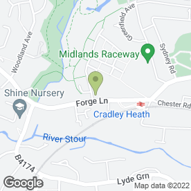 Map of Hawk Factory Cycle Stores in Cradley Heath, west midlands