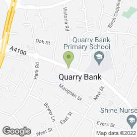 Map of Quarry Bank Medical Centre in Quarry Bank, Brierley Hill, west midlands