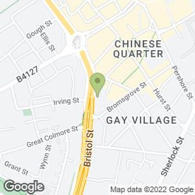 Map of ULYSSES RESTAURANT in Birmingham, west midlands