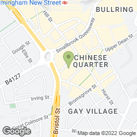 Map of Stageside Bar & Restaurant in Birmingham, west midlands