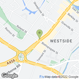 Map of Cineworld Cinemas in Birmingham, west midlands