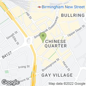 Map of CHUNG YING GARDEN RESTAURANT in Birmingham, west midlands