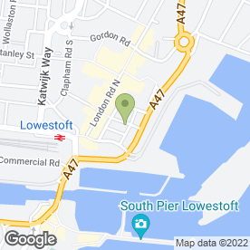 Map of Hales Group in Lowestoft, suffolk