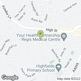 Map of Highfield House Hotel in Rowley Regis, west midlands
