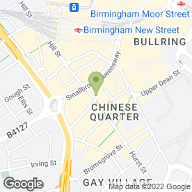 Map of Ming Moon Chinese Restaurant & Bar in Birmingham, west midlands