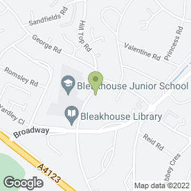 Map of Bluebells Day Nursery in Birmingham, west midlands