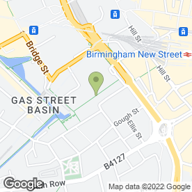Map of The Oriental Bar & Restaurant in Birmingham, west midlands