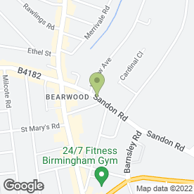 Map of Bearwood Gas Services in Birmingham, west midlands