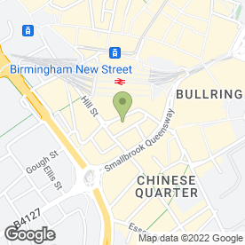 Map of The Comfort Inn in Birmingham, west midlands