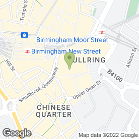 Map of Mount Fuji Japanese Restaurant in Birmingham, west midlands