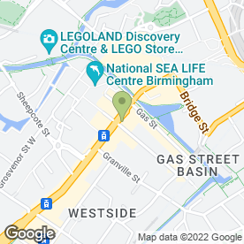 Map of Berkleys Lounge in Birmingham, west midlands