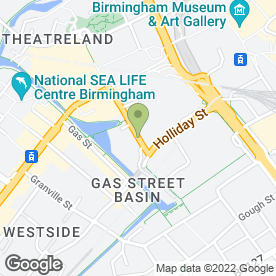 Map of Travel Club UK in Birmingham, west midlands