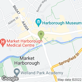 Map of Martins Of Harborough in Market Harborough, leicestershire