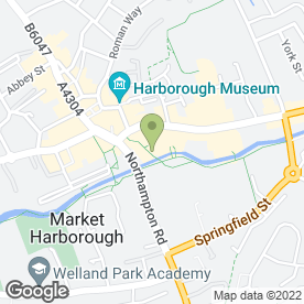 Map of Market Harborough P.O in Market Harborough, leicestershire