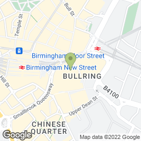 Map of Thomas Cook Retail Ltd in Birmingham, west midlands