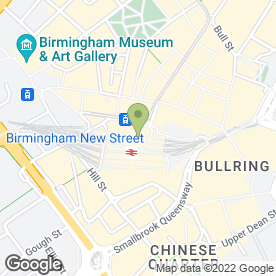 Map of The Officers Club in Birmingham, west midlands