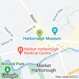 Map of Marzena's Room in Market Harborough, leicestershire