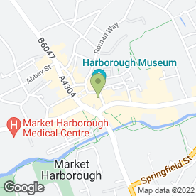 Map of George Alan Menswear Ltd in Market Harborough, leicestershire