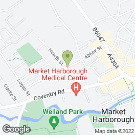 Map of Martin Russell Chartered Architect in Market Harborough, leicestershire