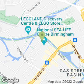Map of Fridays Property Lawyers in Birmingham, west midlands