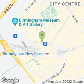 Map of Personnel & Care Bank in Birmingham, west midlands