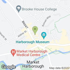 Map of Gardners Cakery in Market Harborough, leicestershire