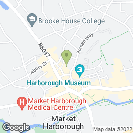 Map of BRP Architects in Market Harborough, leicestershire