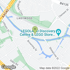 Map of Roundhouse Day Nursery in Birmingham, west midlands