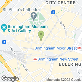 Map of Slaters in Birmingham, west midlands