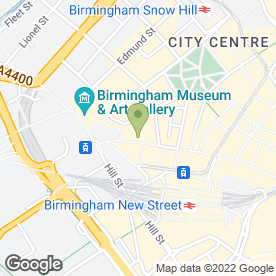 Map of Yorkshire Building Society in Birmingham, west midlands