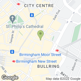Map of Millets in Birmingham, west midlands