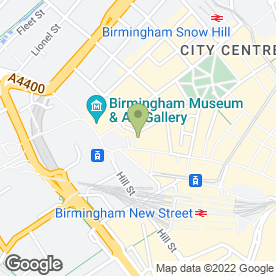 Map of Campbell Solicitors in Birmingham, west midlands