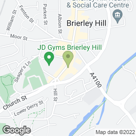 Map of Rob's Tattoo Studio in Brierley Hill, west midlands