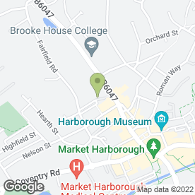 Map of Little Angels Day Nursery in Market Harborough, leicestershire