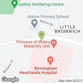 Map of Sexually Transmitted Infections & HIV in Bordesley Green, Birmingham, west midlands