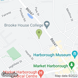 Map of The Ice Bar Cafe in Market Harborough, leicestershire