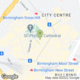 Map of The Health and Wealth Centre in Birmingham, west midlands