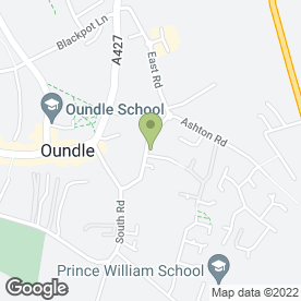Map of Laxton Junior School in Oundle, Peterborough, cambridgeshire