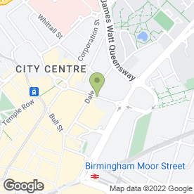 Map of Thompsons Solicitors LLP in Birmingham, west midlands
