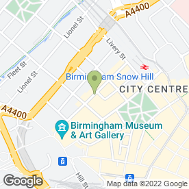Map of Anthony Collins Solicitors in Birmingham, west midlands