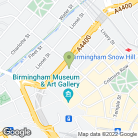 Map of KGA Surveyors in Birmingham, west midlands