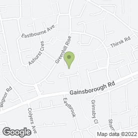 Map of Greenhill Rise Podiatry Clinic in Corby, northamptonshire