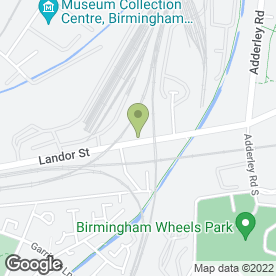 Map of European Metal Recycling Ltd in Birmingham, west midlands