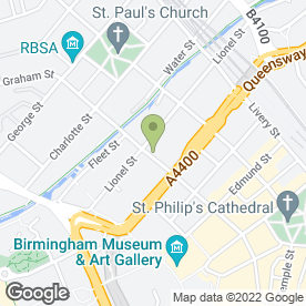Map of The Foot Clinic 1996 Ltd in Birmingham, west midlands