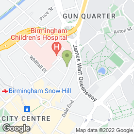 Map of BMV Solicitors in Birmingham, west midlands