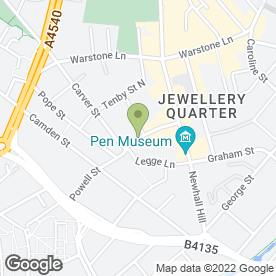Map of Local/Mobile Chiropodist/Podiatrist in Birmingham, west midlands